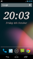 Screenshot of DIGI Clock Widget Plus