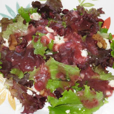 Baby Greens Salad With Cranberry Balsamic Vinaigrette