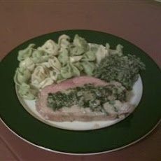 Pork Loin Stuffed with Spinach