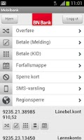 Screenshot of BN Bank Mobilbank