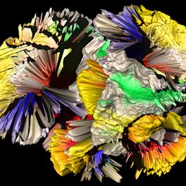 multicolor abstract by LADOCKi Elvira - Digital Art Abstract ( ccolor )