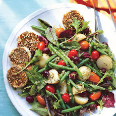 Farmers' Market Salad with Spiced Goat Cheese Rounds