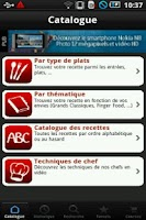 Screenshot of iChef de l'atelier des chefs