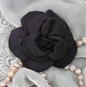Black silk rose
