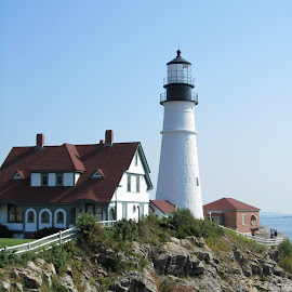 Maine Lighthouse by Marla Kaufman - Buildings & Architecture Public & Historical