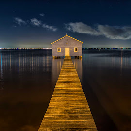 perth boathouse by Jeff Miles - City,  Street & Park  Skylines ( perth, boathouse, long exposure, nikon )
