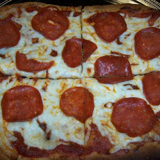 Low Fat Pepperoni Pizza on a Flat Out