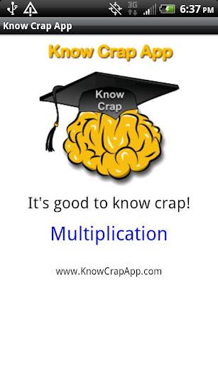 Know Crap App - Multiplication