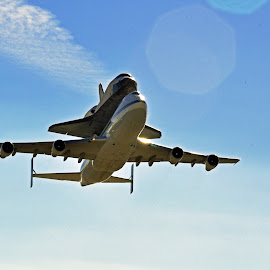 Endeavour's Final Flight by Jane Singer - Transportation Airplanes ( endeavour, space shuttle, aircraft, helicoptors,  )