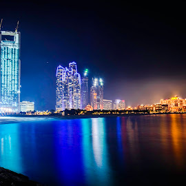 Night Photography In Abu Dhabi ( Emirates Palace, ADNOC Bldg. & Etihad Towers by Cesar Brayan Borbon - Buildings & Architecture Office Buildings & Hotels