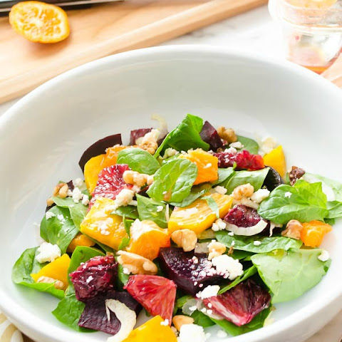 Roasted Beet Citrus Salad with Feta & Cashews Recipe | Yummly