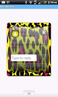 GO SMS THEME/NeonLeopard2 - screenshot