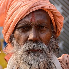 Sadhu Baba by Rakesh Syal - People Portraits of Men