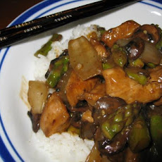 Asparagus Chicken With Black Bean Sauce