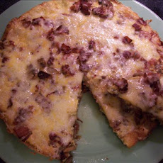 Mushroom, Bacon, and Potato Frittata