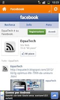 Screenshot of equaTech