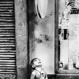 Children of Heaven by Samik Mondal - People Street & Candids ( black and white, kolkata, street, children candids, candid, people )