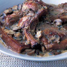 Cider-braised Pork with Cream and Mushrooms