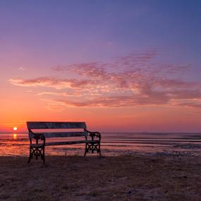 by Charliemagne Unggay - Landscapes Sunsets & Sunrises ( blue, orange. color )