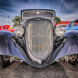 Black Grill by Ron Meyers - Transportation Automobiles