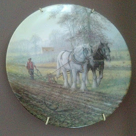 Working the field by Lyz Amer - Artistic Objects Cups, Plates & Utensils ( plate )