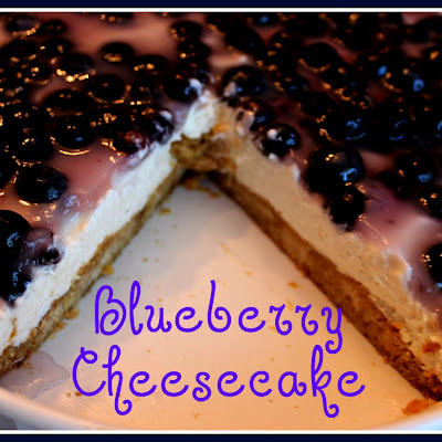 Easy Blueberry Cheesecake!