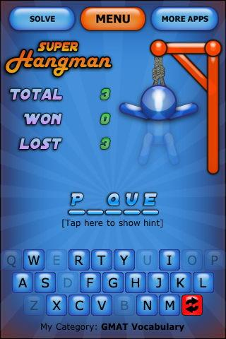 super-hangman-demo for android screenshot