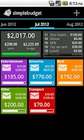Screenshot of SimpleBudget (Envelope Budget)