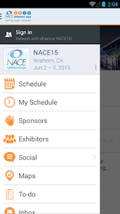 NACE15 Conference & Expo - screenshot