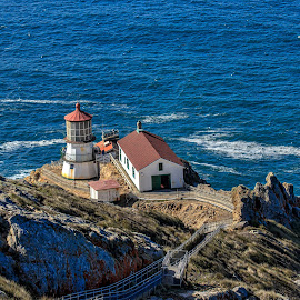 Light House by Carol Plummer - Buildings & Architecture Public & Historical ( california, lighthouse, historical, landscape, pt reyes )