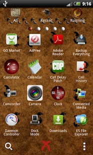 GO Launcher EX theme travels - screenshot