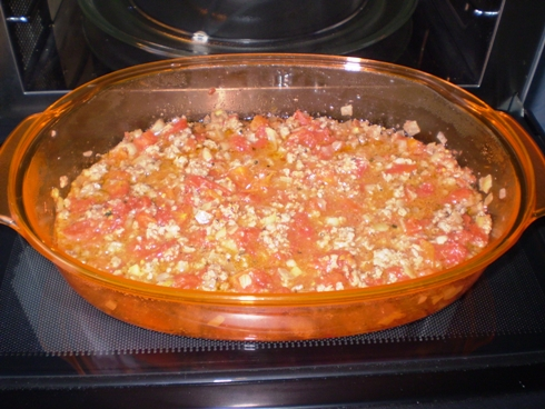 Mėsa su konservuotais pomidorais