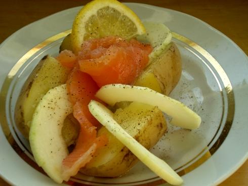 Bulvė su lašiša