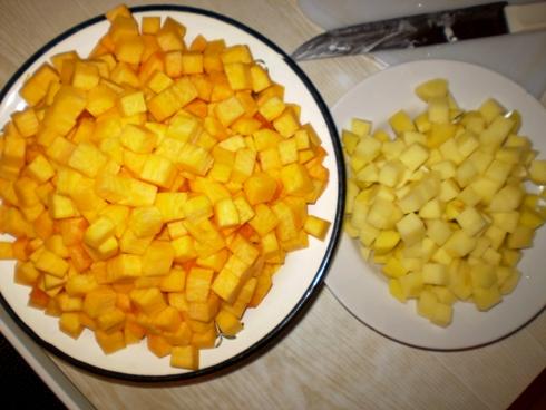 Moliūgas ir bulvės