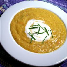 Carrot, Apple and Butternut Squash Soup
