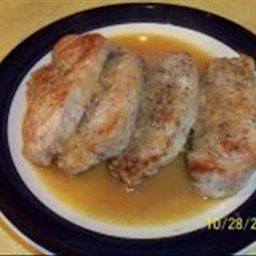Pork Chops with Shallots in White Wine Sauce