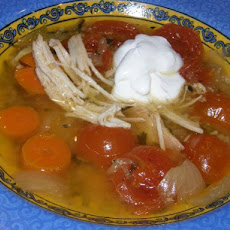 Yucatan - Style Chicken and Vegetable Soup