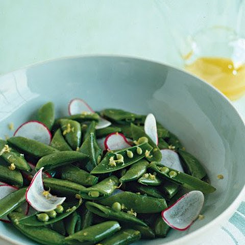 ... With Bacon, Goat Cheese And Sugar Snap Peas Recipes — Dishmaps