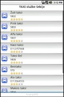 Screenshot of Taxi Srbija