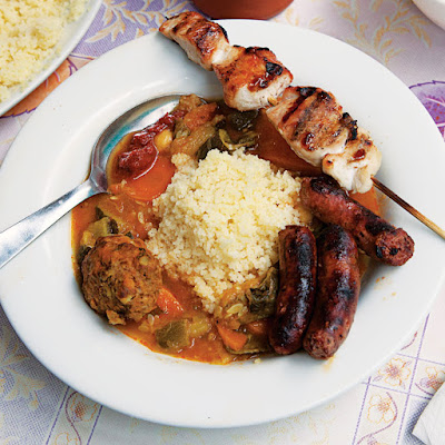Couscous Royale (Couscous with Grilled Meats)