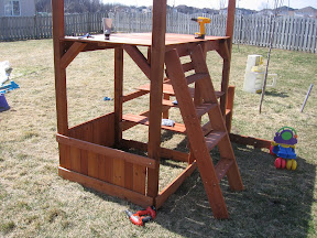 play structure with ladder