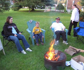 Around the fire for Smores
