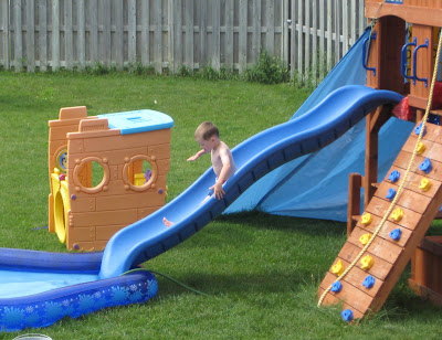 BigE coming down the slide