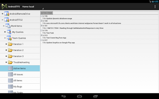 Screenshot of TFS Client for Android