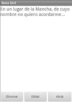 Screenshot of Nota fácil