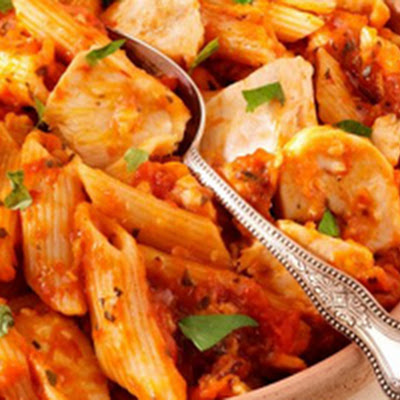 Chicken Penne Pasta With Tomato Sauce