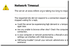 network time out