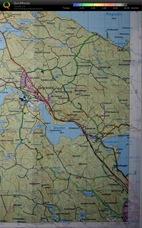 Karta med GPS spår