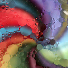 Swirls by Janet Herman - Abstract Macro ( abstract, water, reflection, macro, colors, floating, swirls, oil )