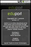 Screenshot of eduPort
